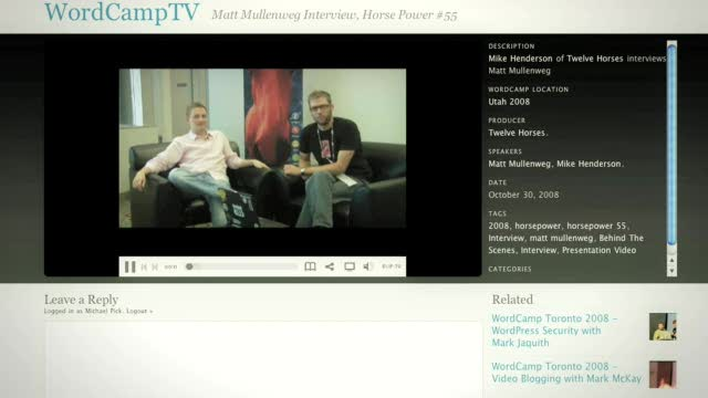 Welcome to WordPress.tv