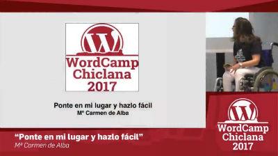 María Carmen de Alba: Ponte en mi lugar y hazlo fácil