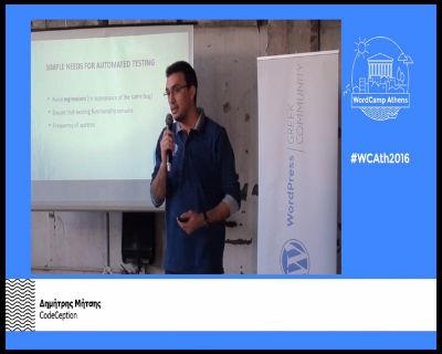 Δημήτρης Μήτσης: Αυτόματα τεστ με το CodeCeption