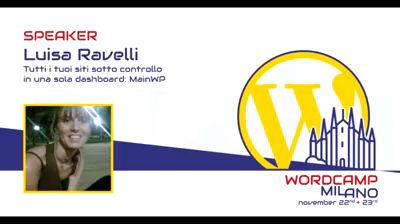 Luisa Ravelli: Tutti i tuoi siti sotto controllo in una sola dashboard: MainWP