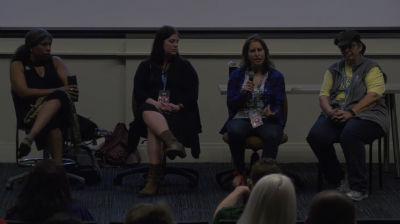 Birgit Pauli-Haack, Miriam Goldman, Nakeesha Charles, Natalia Real, Tessa Kriesel: Women in WordPress Panel