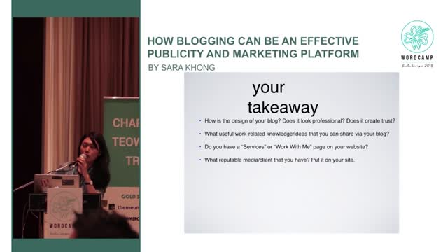Sara Khong: How blogging can be an effective publicity and marketing platform