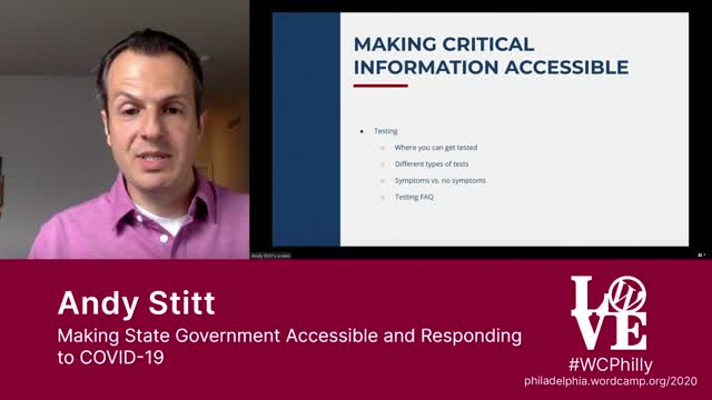 Andy Sitt: Making State Government Accessible and Responding to COVID-19