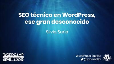 Silvia Suria: SEO técnico en WordPress, ese gran desconocido