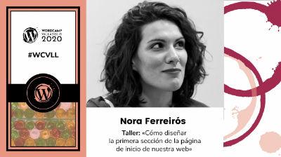 Nora Ferreirós: Cómo diseñar la primera sección de la página de inicio de nuestra web