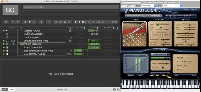 Piano in QLab
