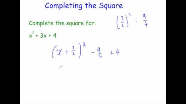 completing the square – Completing the Square Worksheet