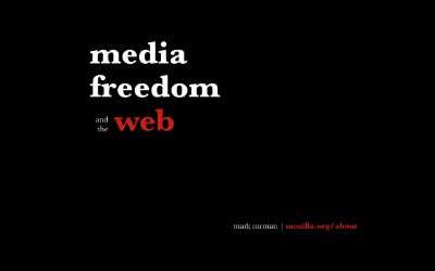 Media, Freedom and the Web – Berlin Talk