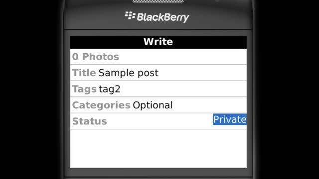 Introducing WordPress for BlackBerry (beta)