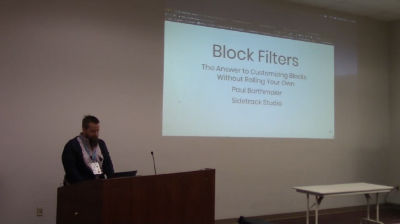 Paul Barthmaier: Block Filters: The Answer to Customizing Blocks Without Rolling Your Own