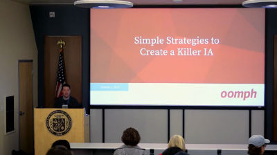 Matthew O'Bryant: Simple Strategies for Creating a Killer IA