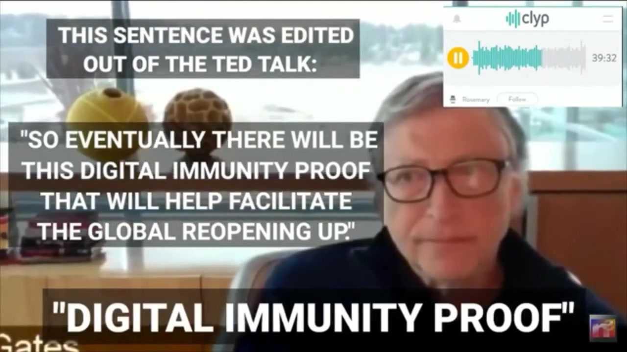 "Bill Gates: ""Digital Immunity Proof"" (TED Talk, March 2020)"