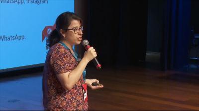 Fernanda Giannini: Desenhando chatbots like a boss: metodologia UX, cases, reflexões e muita empatia.