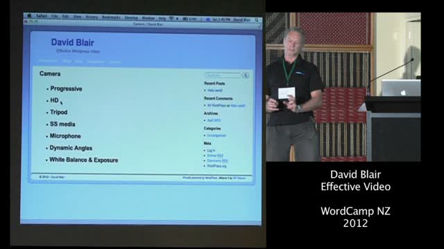 David Blair: Effective WordPress Video