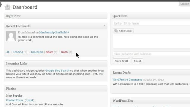 Understanding the WordPress Dashboard