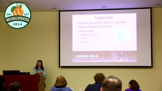 Chrissie Scelsi: Copyrights, Trademarks, Patents, Privacy Policies, and Open Source Licenses, Oh My!