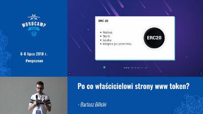 Bartosz Bilicki: Po co właścicielowi strony www token?