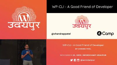 Chandra Patel: WP CLI: Developer's Good Friend