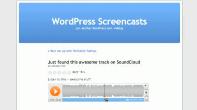 Embedding SoundCloud Tracks