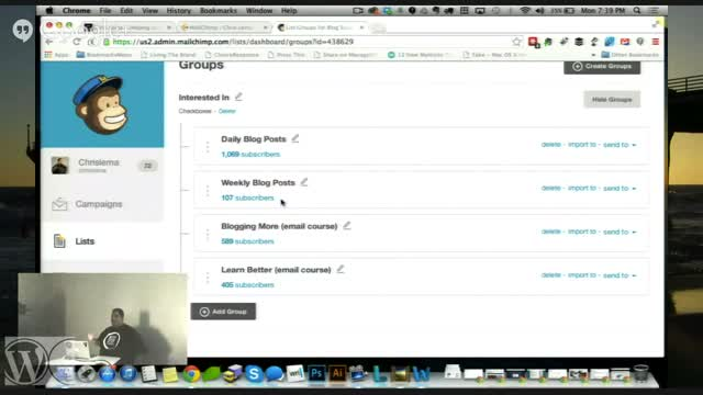 Chris Lema: Integrating Gravity Forms and Mail Chimp Groups