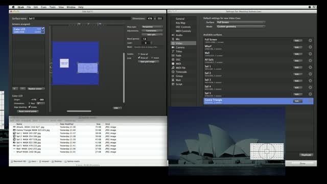 Qlab Sydney Sails Demo