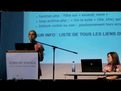 Catherine Roy & Anne Pelletier : Pour un WordPress accessible à tous !