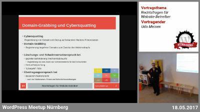 Udo Meisen: Rechtsfragen für Website-Betreiber - Teil 1