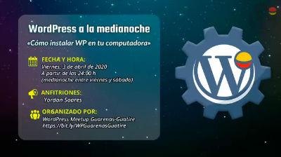Yordan Soares: Cómo instalar WordPress en tu computadora