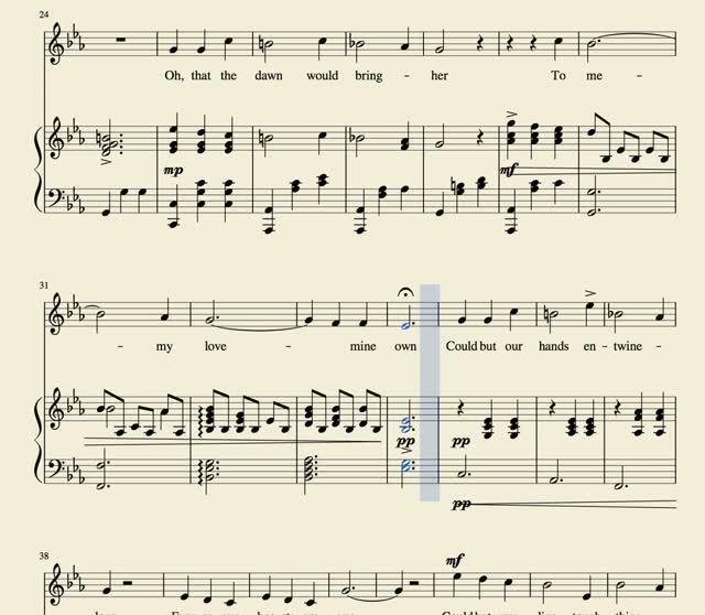 My Love, Mine Own, 1880 | Verseandmusic com