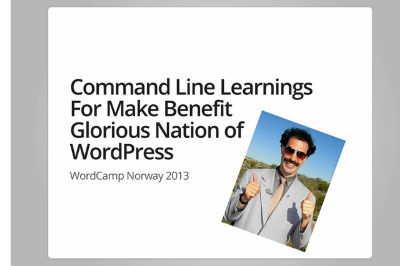 Cristi Burca: Command Line Learnings For Make Benefit Glorious Nation Of WordPress