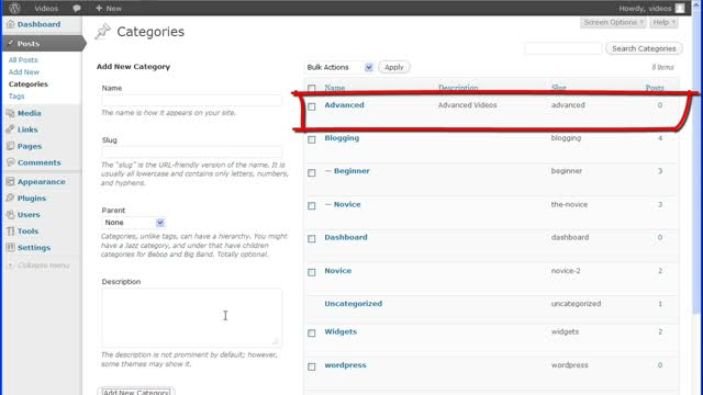 WordPress Post Categories