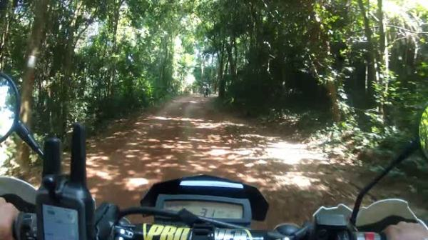 Ride to the ancient Elephant Statue, hidden in the Kulen Mountains, Cambodia.