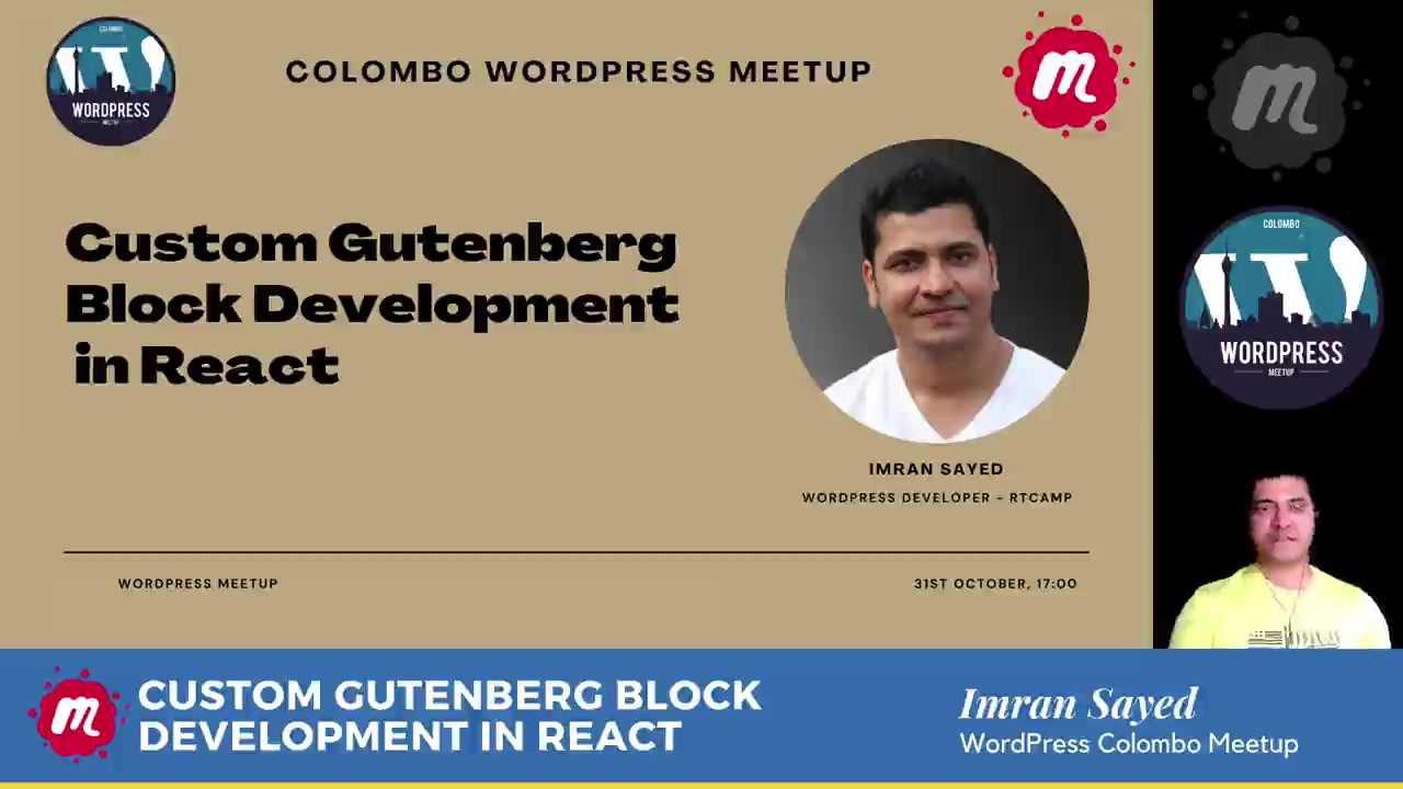 Imran Sayed : Custom Gutenberg Block Development In React