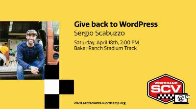 Sergio Scabuzzo: Give back to WordPress