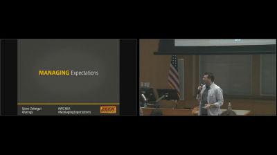 Steve Zehngut: Managing Expectations