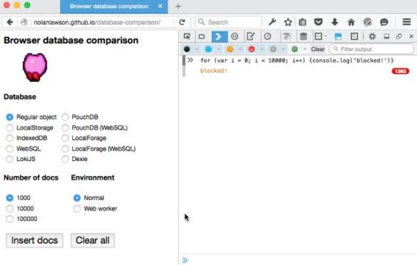 IndexedDB, WebSQL, LocalStorage – what blocks the DOM? | Read the