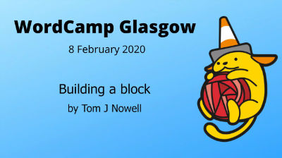 Tom J Nowell: Building a block