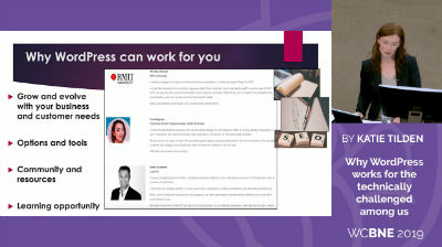 Katie Tilden: Why WordPress works for the technically challenged among us