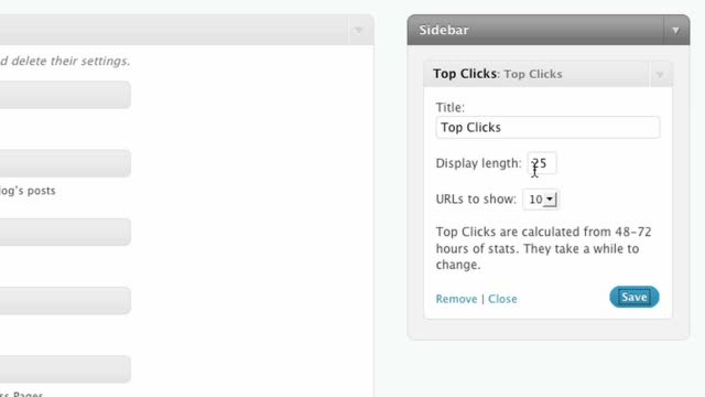 The Top Clicks Widget for WordPress.com