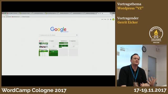 "Gerrit Eicker: WordPress ""VZ"""