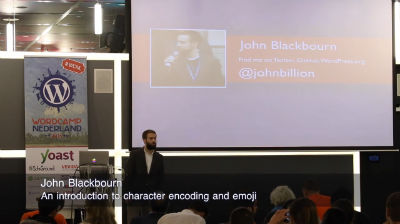 John Blackbourn: An introduction to character encoding and emoji