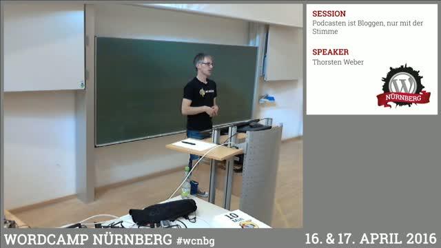 Thorsten Weber: Podcasten ist Bloggen, nur mit der Stimme