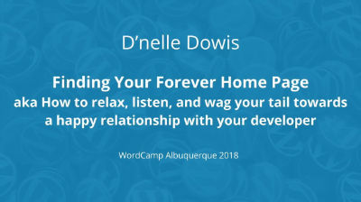 D'nelle Dowis: Finding Your Forever Home Page aka How to relax, listen, and wag your tail towards a happy relations