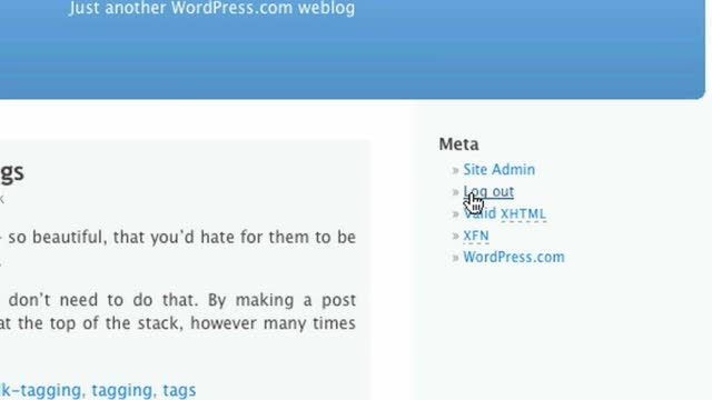 The Meta Widget for WordPress.com