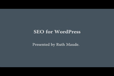 Ruth Maude: SEO for WordPress