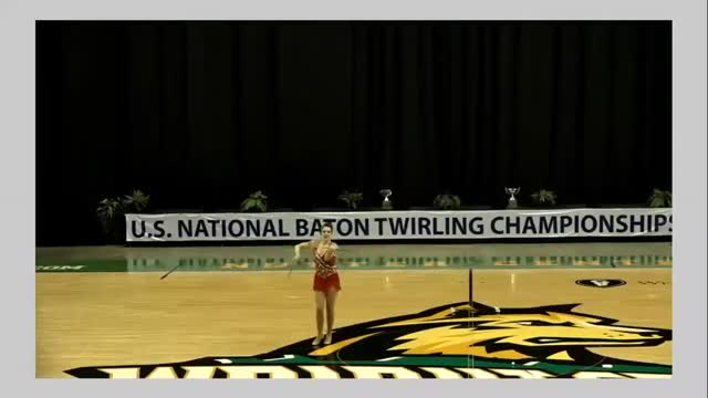 Champion Professional Twirling Baton in Silver