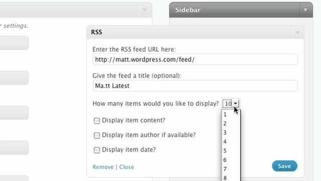 The RSS Widget for WordPress.com