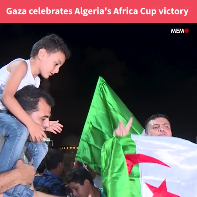 Gaza celebrates Algeria's African Cup of Nations victory
