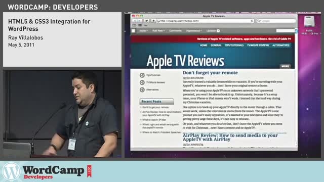 Ray Villalobos: HTML5 and CSS3 Integration
