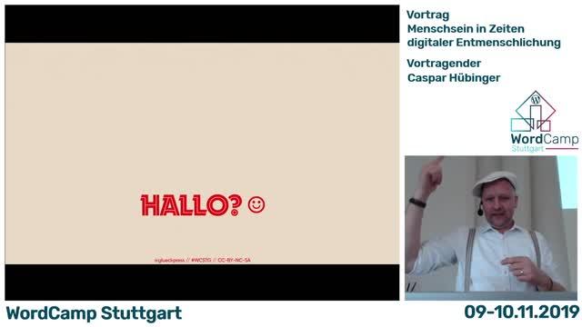 Caspar Hübinger: Menschsein in Zeiten digitaler Entmenschlichung